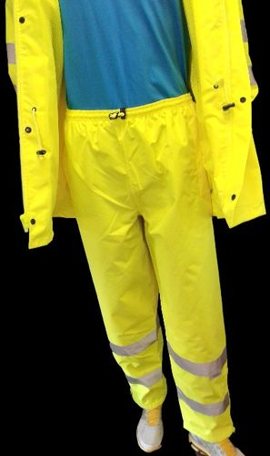 AHLBORN ANSI/ISEA 107-2015 Class 3 Type E  Lime Pants with 3M Scotchlite  Reflective Tape X-Large