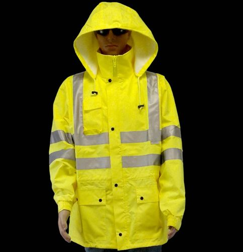 ANSI/ISEA 107-2015 Class 3 Type R Lime Jacket with 3M Scotchlite Reflective Tape X-Large