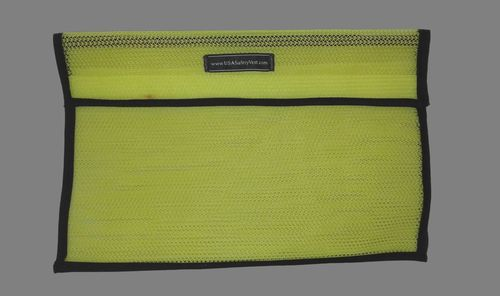 Ameri-Viz 12X18 VINYL COATED MESH VEST BAG - LIME