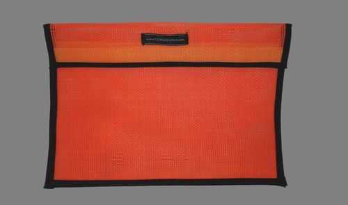 Ameri-Viz 12X18 VINYL COATED MESH VEST BAG - ORANGE