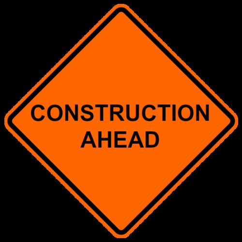 Ameri-Viz 36 REFL ROLLUP/CONSTRUCTION AHEAD/ RIBS