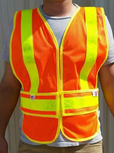 Ameri-Viz ANSI/OM-CHEV-VEST 2 LIME YELLOW REFLECTIVE TAPE