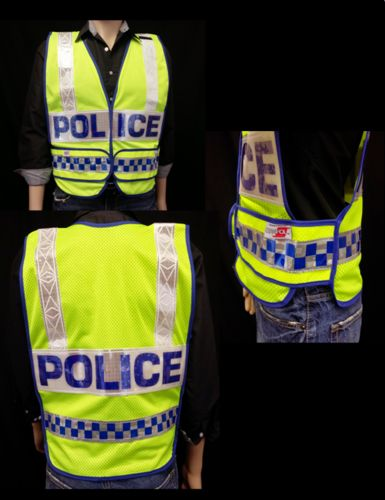 Ameri-Viz **ANSI CL2 LAW VEST/LIME/4X12 PANEL/HK SIDE MICTAB