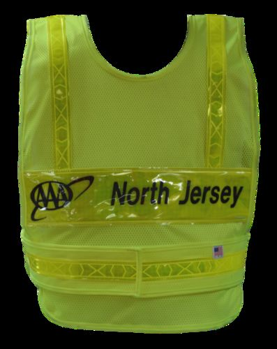 ANSI II REFLECTIVE LIME/YELLOW PONCHO/2LP/HS