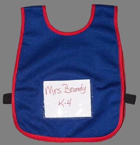 Ameri-Viz CHILDS VEST WITH SIGN POUCH - BLUE -RED TRIM