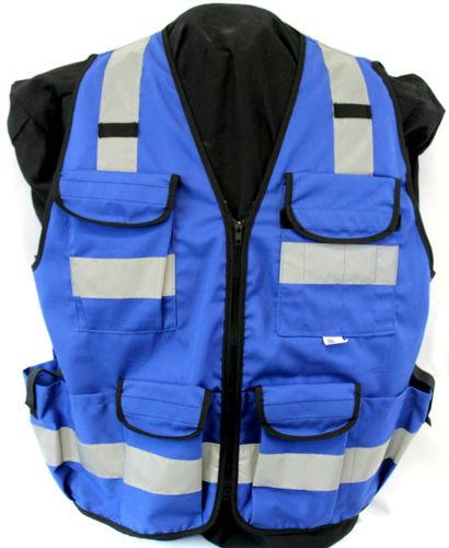 Ameri-Viz CLASS 2 BLUE 11 PKT      VEST/ZIPPER (SURVEYOR)