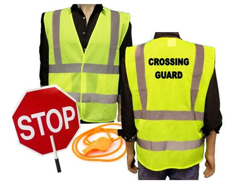 Ameri-Viz CROSSING GUARD KIT / VEST / PADDLE / WHISTLE 5X