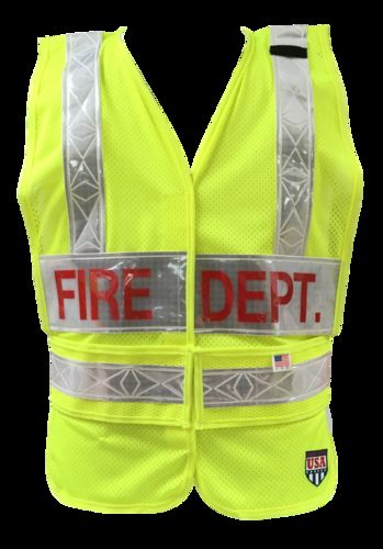 Ameri-Viz LIMEPUBLIC SAFETY VEST/2LP/HS