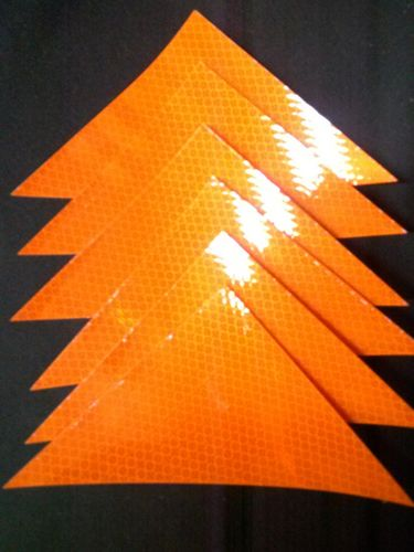 "Ameri-Viz REFLECTIVE TRIANGLE 4""X6"" / PACK OF SIX - ORANGE"