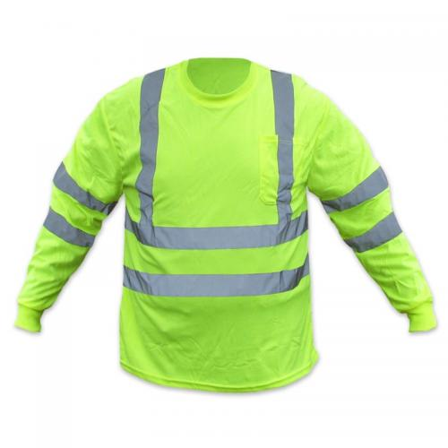 CLASS 3 T-SHIRT LIME WITH SILVER LONG SLEEVE MEDIUM