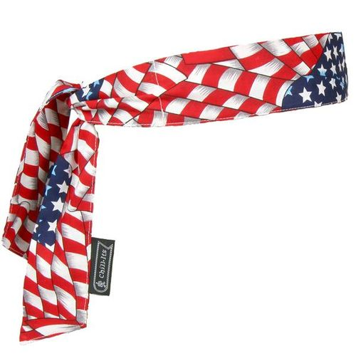 COOLING BANDANA TIE CLOSURE / STARS AND STRIPES