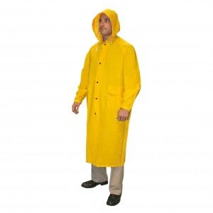 CORDOVA .35MM RENEGADE PVC/POLY YELLOW 2PC RIDING COAT L