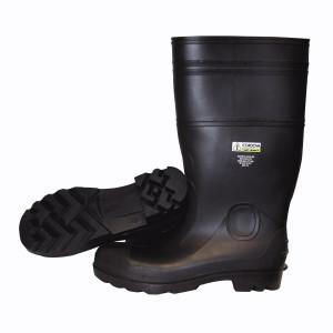 "CORDOVA 16"" BLACK PVC BOOT/STEEL TOE/LINED/BLACK SOLE 06"