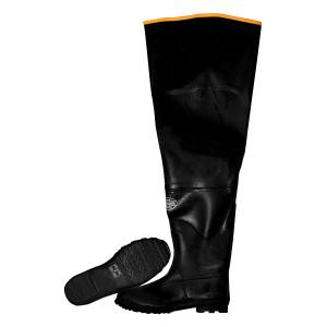 "CORDOVA 32"" BLACK RUBBER HIP BOOT/PLAIN TOE 08"