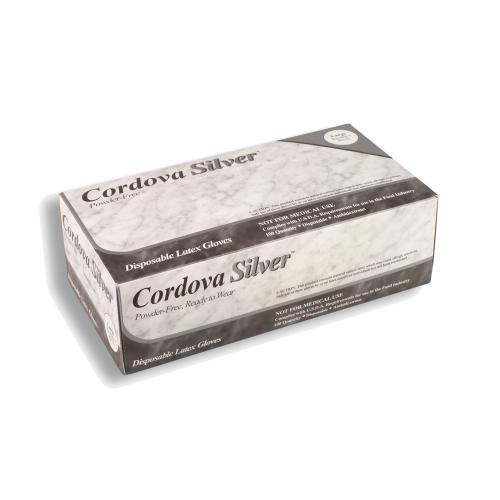 CORDOVA DISP GLOVES CORDOVA SILVER LATEX 5 MIL POWDER FREE