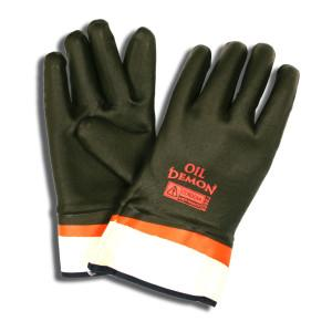 CORDOVA OIL DEMON™ BLACK/ORANGE DOUBLE DIPPED PVC, SANDY FINISH, JERSEY LINED, SAFETY CUFF
