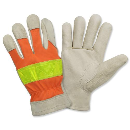 CORDOVA PREMIUM GRAIN PIGSKIN DRIVER UNLINED HIGH VIS OR