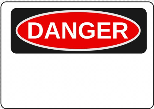 DANGER (Blank Legend)