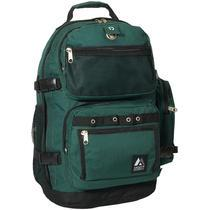 DELUXE BACKPACK -DK GREEN ; 20 1/4 X 14 1/4 X 8