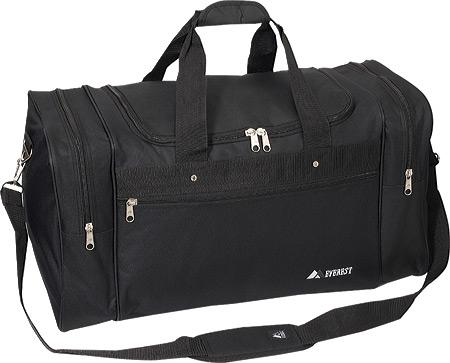 EVEREST BLACK DUFFEL BAG/ 21.5 X 11.5 X 10