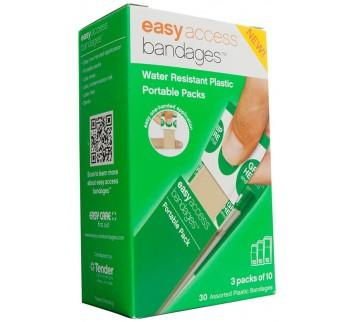 Easy Access Bandage Retail Box Plastic Assorted (3