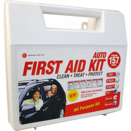 Genuine First Aid 157 PIECE AUTO FIRST AID KIT