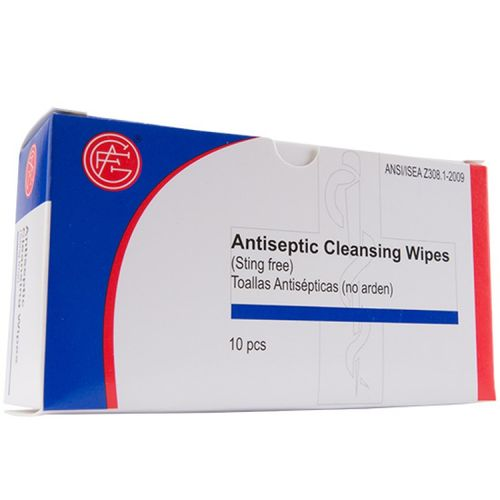 Genuine First Aid ANTISEPTIC WIPES 10/BOX 100/CASE