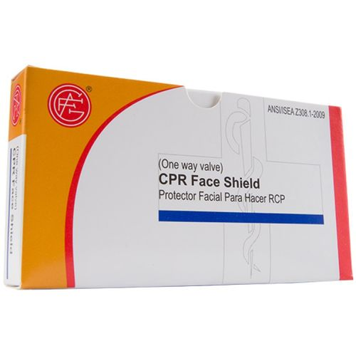 Genuine First Aid CPR FACE SHIELD ONE WAY VALVE W/INSTRUCTIONS 1/BOX