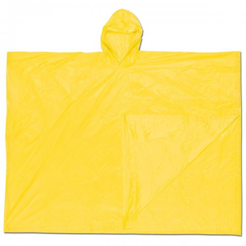 MCR Safety SCHOONER 10mm A/HOOD PONCHO/YELLOW
