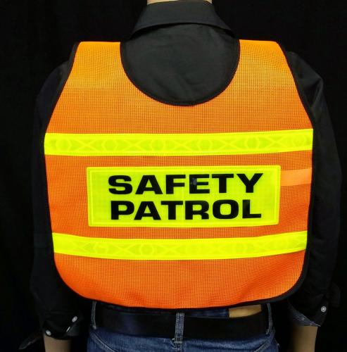 MTS Safety REFLECTIVE-ORANGE VEST/2SP/DIAG STRIPE/ADULT