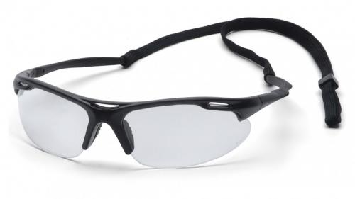 Pryamex AVANTE BLACK FRAME/ CLEAR LENS WITH CORD
