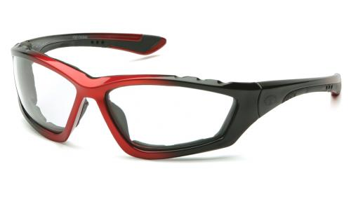 Pyramex ACCURIST BLACK/RED FRAME/ CLEAR ANIT FOG LENS