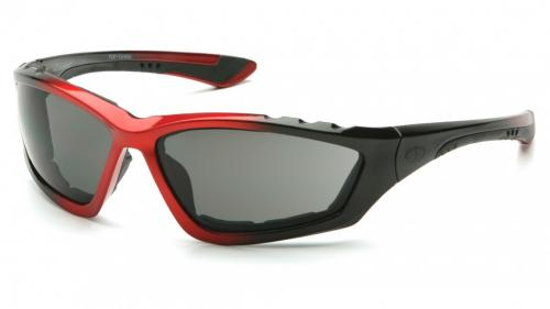 Pyramex ACCURIST BLACK/RED FRAME/ GRAY ANTI-FOG LENS