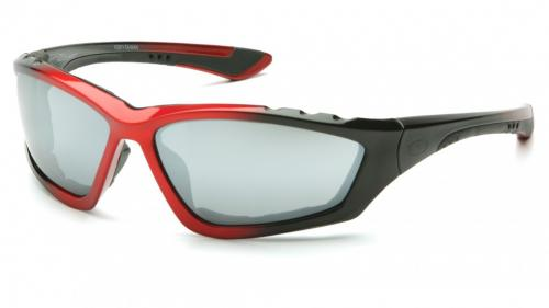 Pyramex ACCURIST BLACK/RED FRAME/ SILVER MIRROR ANTI-FOG