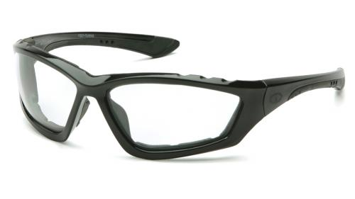 Pyramex ACCURIST BLACK FRAME/CLEAR ANTI-FOG LENS