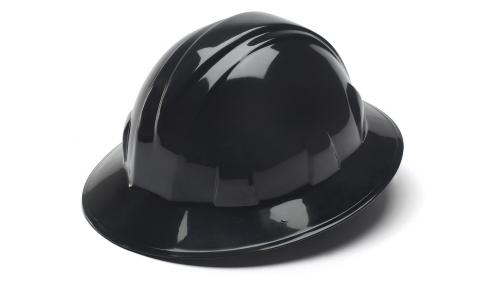 Pyramex BLACK FULL BRIM STYLE 4-POINT RATCHET