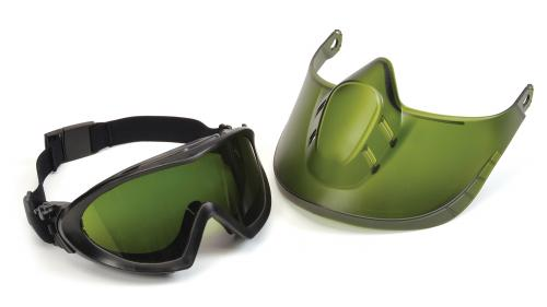 Pyramex CAPSTONE GREEN TINTED FACE SHIELD WITH IR3 ANTI-FO