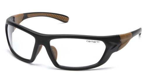 Pyramex CARBONDALE BLACK/TAN FRAME/CLEAR ANTI-FOG LENS