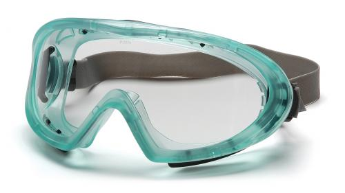 Pyramex CHEMICAL GREEN DIRECT/INDIRECT GOGGLE CLEAR ANTI-F