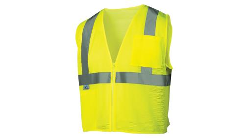 Pyramex CLASS 2/LEVEL 2 HI-VIS LIME SAFETY VEST 3X