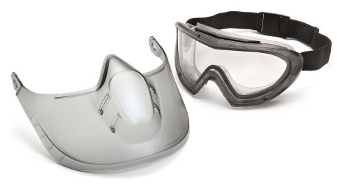 Pyramex CLEAR ANTI-FOG LENS WITH FACE SHIELD