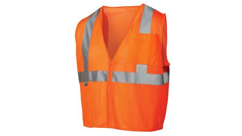 Pyramex Class 2/Level 2 Hi-Vis Orange Safety Vest MEDIUM