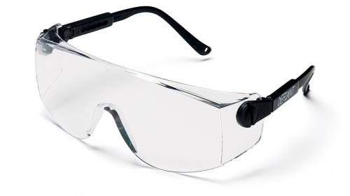 Pyramex DEFIANT BLACK TEMPLES WITH CLEAR LENS