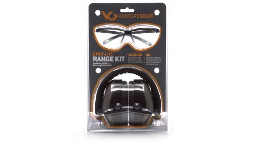 Pyramex EVER-LITE RANGE KIT NRR 26 DB GRAY MUFF CLEAR LENS