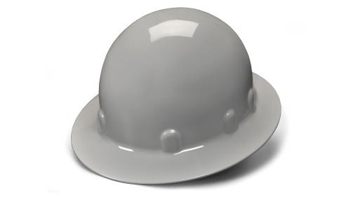 Pyramex GRAY FULL BRIM SLEEK SHELL STYLE 4-POINT RATCHET
