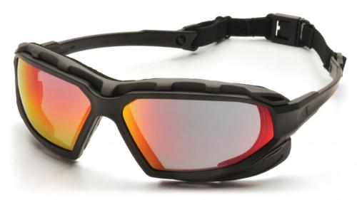 Pyramex HIGHLANDER BLACK&GRAY FRAME/STRAP, SKY RED A/F