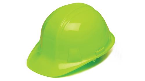 Pyramex HI-VIS LIME CAP STYLE 4-POINT RATCHET