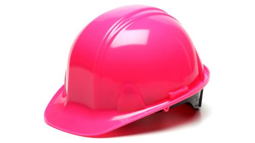 Pyramex HI-VIS PINK CAP STYLE 4-POINT RATCHET