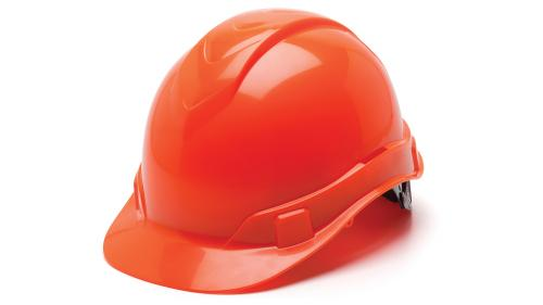 Pyramex HI-VIZ ORANGE CAP STYLE 4-POINT STANDARD GLIDE LOC