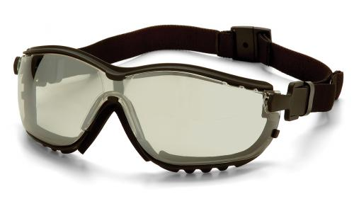 Pyramex Indoor/Outdoor Mirror Anti-Fog Lens with Black Strap/Temples